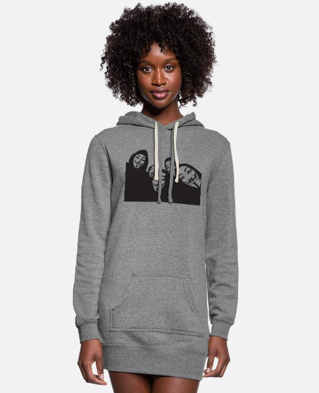 Anon Hoodies & Sweatshirts - Anon - Women's Hoodie Dress heather gray
