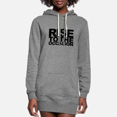Occasion Rise to the Occasion Black - Women's Hoodie Dress