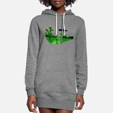 Ufo Roo Abduction - Women's Hoodie Dress