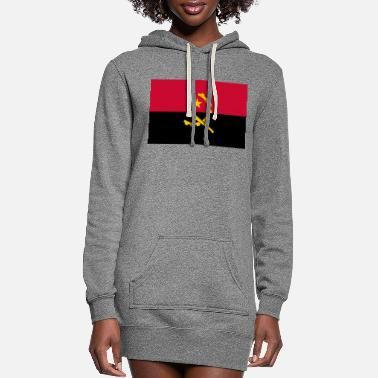 Coat Of Arms Flag of Angola - Women's Hoodie Dress