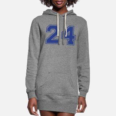 Number 24_zahl_collage__f1 - Women's Hoodie Dress
