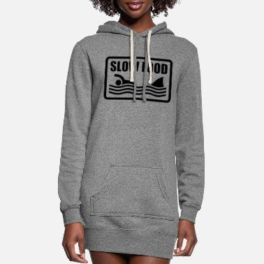 Fast slow food - Women's Hoodie Dress