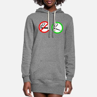 Smoking no smoking yes smoking - Women's Hoodie Dress