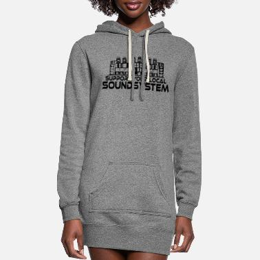 23 0082 support your local one color - Women's Hoodie Dress