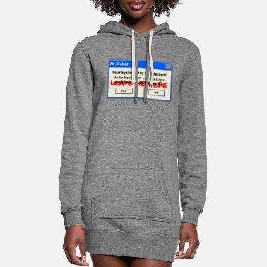 Robot fsociety mr robot hack - Women's Hoodie Dress