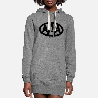 AAA wdd logo - Women's Hoodie Dress