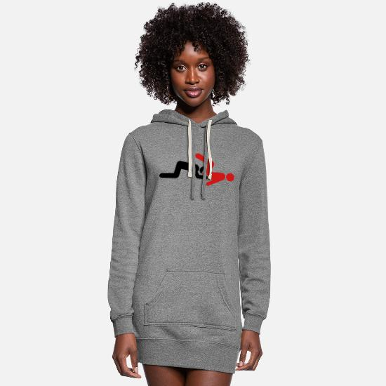 Pussy Hoodies & Sweatshirts - Eating Boy Pussy - Women's Hoodie Dress heather gray
