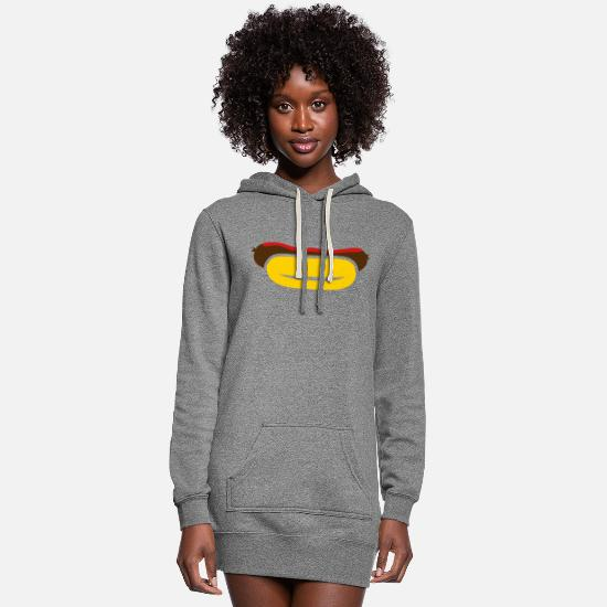 Bbq Hoodies & Sweatshirts - Sausage - Women's Hoodie Dress heather gray