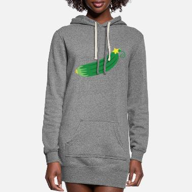 Clip Art cucumber - Women's Hoodie Dress