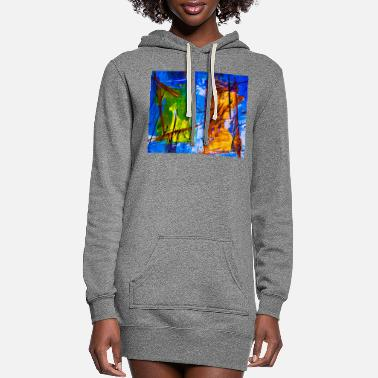 Abstract Abstract - Women's Hoodie Dress