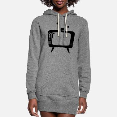 Tv Retro TV - Women's Hoodie Dress