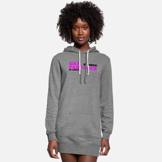 Gay Hoodies & Sweatshirts - GAY BY BIRTH - Women's Hoodie Dress heather gray