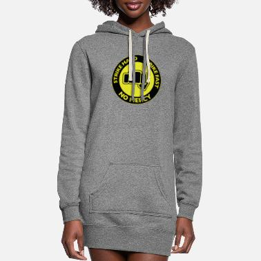 Strike Strike Hard Strike Fast - Women's Hoodie Dress