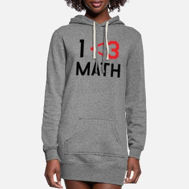 Math - Less Than 3 - Women's Hoodie Dress