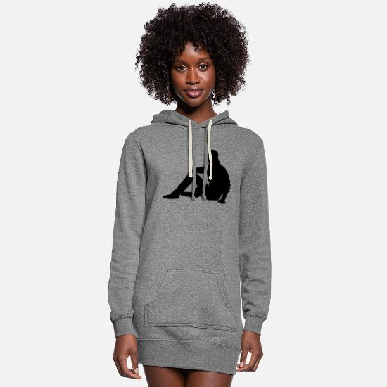 Silhouette Hoodies & Sweatshirts - silhouette - Women's Hoodie Dress heather gray