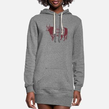 Animal Animal Rights COW - Women's Hoodie Dress