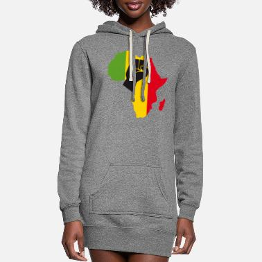 Yellow African Black Power - Women's Hoodie Dress