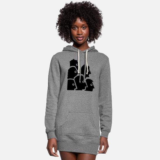 Horde Hoodies & Sweatshirts - people - Women's Hoodie Dress heather gray