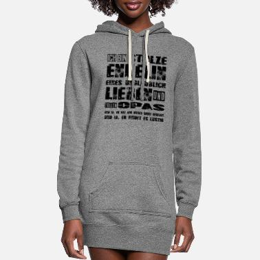 Ja proud granddaughter of a dear and great grandpa - Women's Hoodie Dress