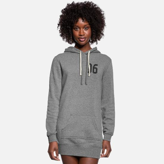 College Hoodies & Sweatshirts - 06, Numbers, Football Numbers, Jersey Numbers - Women's Hoodie Dress heather gray