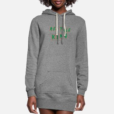 Reptile Reptile - Reptile King - Women's Hoodie Dress