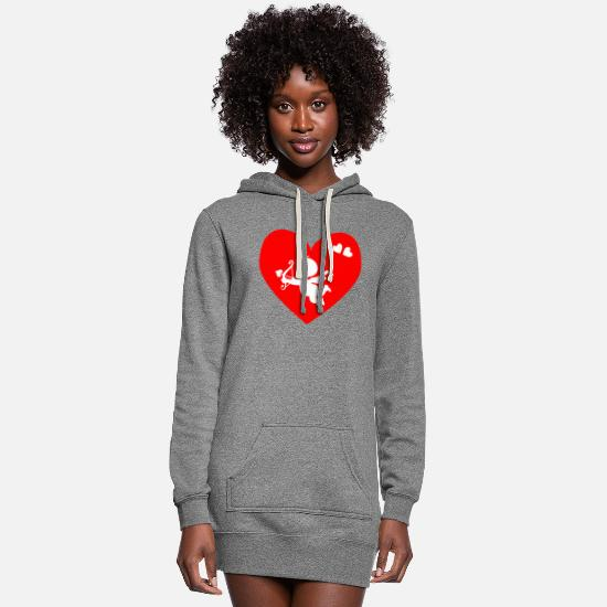 Love Hoodies & Sweatshirts - cupid - Women's Hoodie Dress heather gray