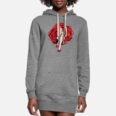 Skirt Rose skirt girl - Women's Hoodie Dress