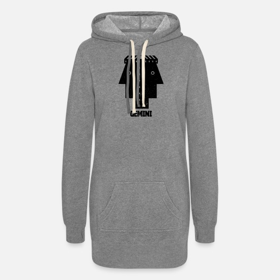 Symbol  Hoodies & Sweatshirts - gemini - Women's Hoodie Dress heather gray