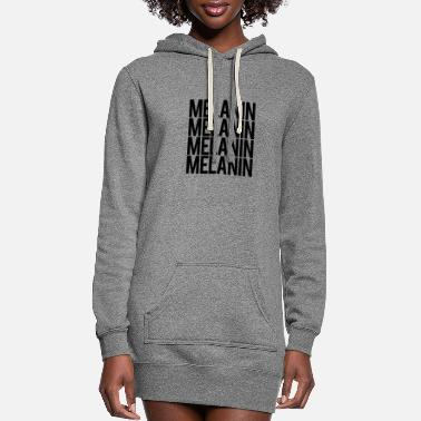 Melanin 4xs- BLACK - Women's Hoodie Dress