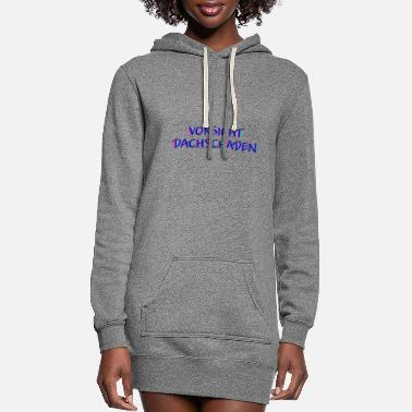Dj Caution roof damage raving rave gift music - Women's Hoodie Dress