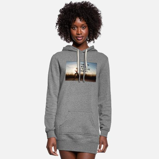 Quotes Hoodies & Sweatshirts - Free and Running - Women's Hoodie Dress heather gray