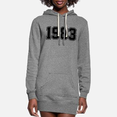 Birth 1983 | Year of Birth | Birth Year | Birthday - Women's Hoodie Dress