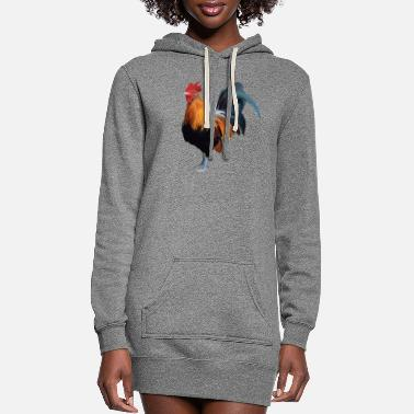 Rooster Rooster - Women's Hoodie Dress
