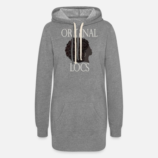Natural Hair Hoodies & Sweatshirts - Hair Magic - ORIGINAL LOCS - Women's Hoodie Dress heather gray