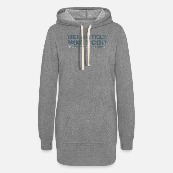 Career Hoodies & Sweatshirts - NOT A COP - Women's Hoodie Dress heather gray