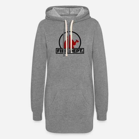 Ax Hoodies & Sweatshirts - Fire Dept. with ax - Women's Hoodie Dress heather gray