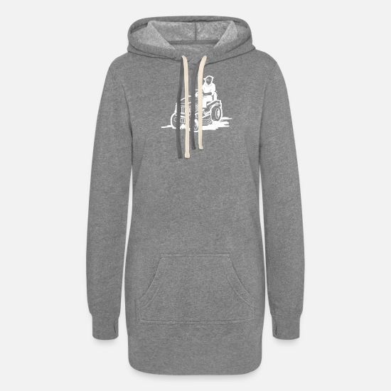 Race Hoodies & Sweatshirts - Garden Grass mower - Women's Hoodie Dress heather gray