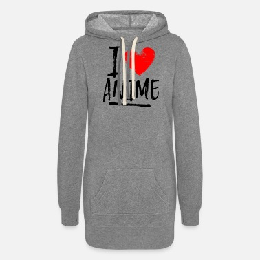 Japanimation I love anime - Women's Hoodie Dress