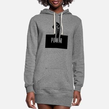 Black Power Raised Fist - Women's Hoodie Dress