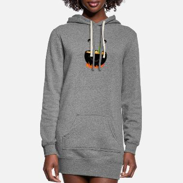 Witch Witch in a witch's cauldron - Women's Hoodie Dress