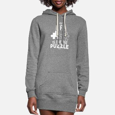Puzzle puzzle puzzle piece puzzles - Women's Hoodie Dress