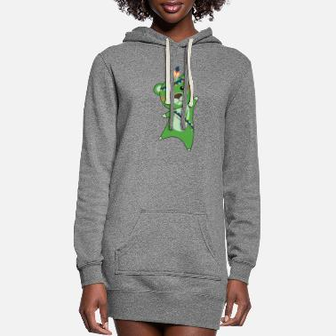 Cute Indian Green Bear Fashing Teddy Feather - Women's Hoodie Dress