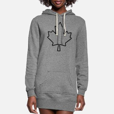 Canada Maple Leaf Outline - Women's Hoodie Dress