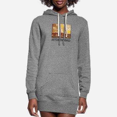 Hyderabad Hyderabad City Skyline Art Sights - Women's Hoodie Dress