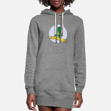 B Day School enrolment Dino pencil - Women's Hoodie Dress