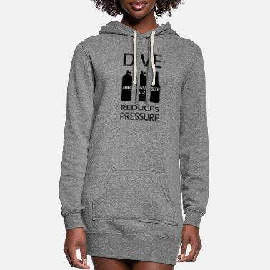 Reduced DIVE REDUCES PRESSURE - Women's Hoodie Dress