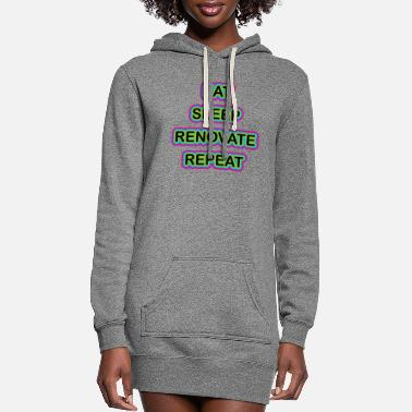 Bathroom Eat Sleep Renovate Repeat Renovation Fix Up Homes - Women's Hoodie Dress