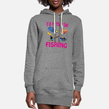 Surprise Id Rather Be Fishing - Women's Hoodie Dress
