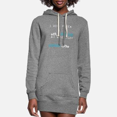 Play I Will Play The Drums Everywhere Drum Kit Rocker - Women's Hoodie Dress