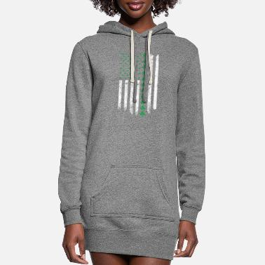 Right St. Patrick's Day Irish Amertican Flag - Women's Hoodie Dress